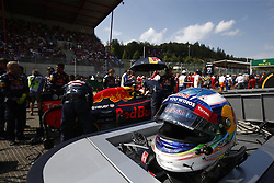 August 28, 2016 - Spa Francorchamps, Belgium - Motorsports: FIA Formula One World Championship 2016, Grand Prix of Belgium, .helmet of #3 Daniel Ricciardo (AUS, Red Bull Racing) (Credit Image: © Hoch Zwei via ZUMA Wire)