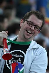23.06.2010, Olympiapark, Muenchen, GER, FIFA Worldcup, Puplic Viewing Ghana vs Deutschland  im Bild Fan mit wuwusela vor dem Spiel, EXPA Pictures © 2010, PhotoCredit: EXPA/ nph/  Straubmeier / SPORTIDA PHOTO AGENCY