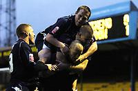 Photo: Olly Greenwood/Sportsbeat Images.<br />Southend United v Swindon Town. Coca Cola League 1. 08/12/2007. Southend's Adam Barrett celebrates scoring