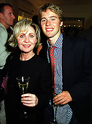 Singer LULU and her son JORDAN FRIEDA, at a party in London on 21st September 1999.MWO 73