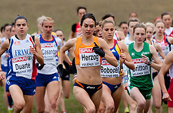 11-12-2011 ATLETIEK: EK 18 TH SPAR CROSS COUNTRY: VELENJE<br /> Adrienne Herzog of Netherland during the Senior Women's race during the 18th SPAR European Cross Country Championships Velenje 2011<br /> ©2011-FotoHoogendoorn.nl/Vid Ponikvar