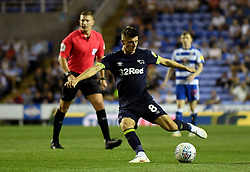 Derby County's Mason Mount scores his side's first goal of the game