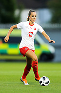 Lia Walti (#13) of Switzerland in action during the 2019 FIFA Women's World Cup UEFA Qualifier match between Scotland Women and Switzerland at the Simple Digital Arena, St Mirren, Scotland on 30 August 2018.