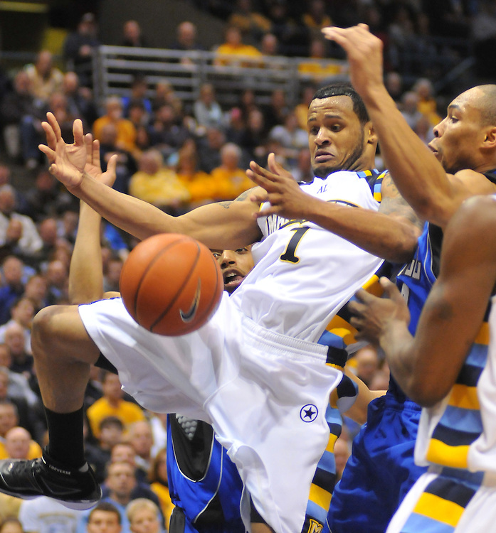 in a game against Seaton Hall Tuesday Feb. 17 2009. The Golden Eagles won 73-59.