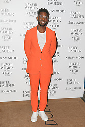 Tinie Tempah arrives at Claridge's Hotel in London to attend the Harper's Bazaar Women of the Year Awards.