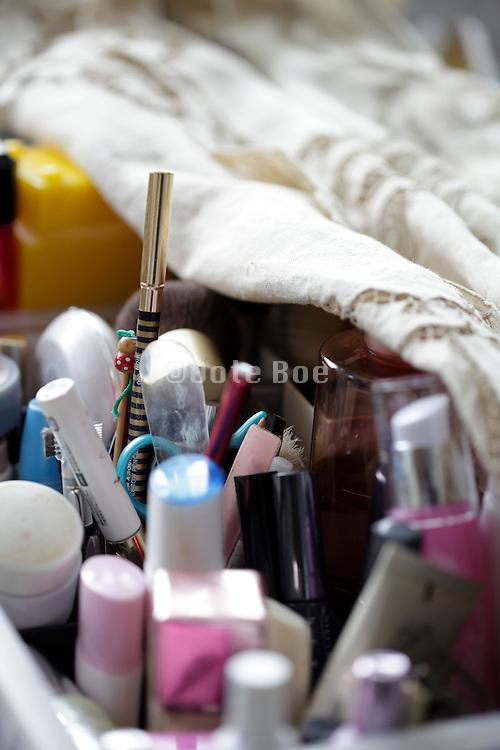 close up of various cosmetics