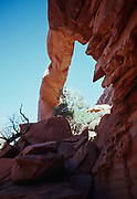 Wall Arch photographed prior to its collapse on August 4, 2008, Devils Garden Trail, Arches National Park, Utah.