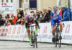Second placed celebrate during cycling race 6th Grand Prix Adria Mobil 2021, on March 28, 2021, in Novo mesto, Slovenia. Photo by Vid Ponikvar / Sportida
