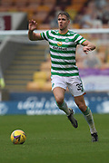 Kristoffer Ajer (Celtic) during the Scottish Premiership match between Motherwell and Celtic at Fir Park, Motherwell, Scotland on 8 November 2020.