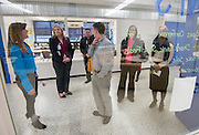 Staff from Mooresville (NC) school district tour the Energy Institute High School, December 13, 2013.