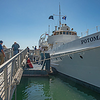 """The USS Potamac, once President Franklin D. Roosevelt's """"Floating White House,"""" is now preserved  as a museum and offers tours of San Francisco Bay, California."""