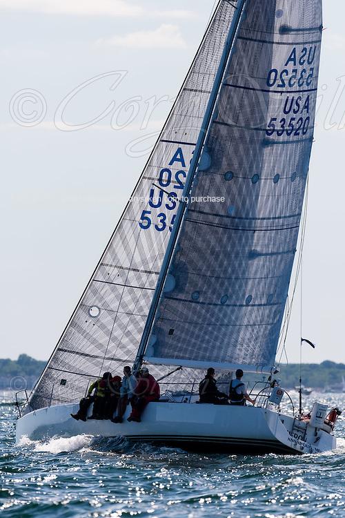 Heron sailing in the Newport Bermuda Race.