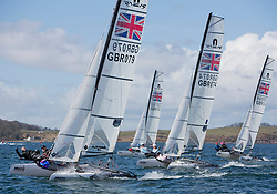 The annual RYA Youth National Championships is the UK's premier youth racing event. Perfect conditions for the fourth days racing.<br /> <br /> 079, William Harrison, Arabella Sabberton, Marconi SC; Norfolk Broads YC; GWSC, Nacra 15 Open, <br /> <br /> Images: Marc Turner / RYA<br /> <br /> For further information contact:<br /> <br /> Richard Aspland, <br /> RYA Racing Communications Officer (on site)<br /> E: richard.aspland@rya.org.uk<br /> m: 07469 854599