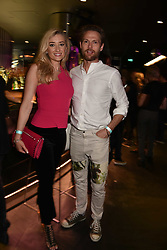 Jane Given and Mark Hogarth at the STK Ibiza themed brunch party at STK London, London, England. 7 May 2017.<br /> Photo by Dominic O'Neill/SilverHub 0203 174 1069 sales@silverhubmedia.com