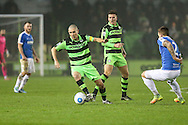 Forest Green Rovers Liam Noble(15) on the ball during the Vanarama National League match between Forest Green Rovers and Dover Athletic at the New Lawn, Forest Green, United Kingdom on 17 December 2016. Photo by Shane Healey.
