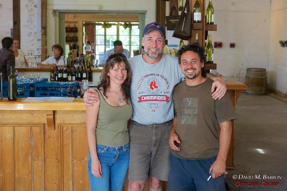 Felicia, David & Damian At Yering Station Winery