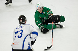 Anej Kujavec of SZ Olimpija during ice hockey match between HK SZ Olimpija and WSV Sterzing Broncos Weihenstephan (ITA) in Round #12 of AHL - Alps Hockey League 2018/19, on October 30, 2018, in Hala Tivoli, Ljubljana, Slovenia. Photo by Vid Ponikvar / Sportida