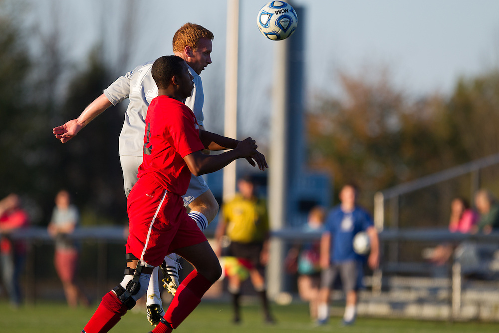 Andrew Woonton, of Colby College, in a NCAA Division III soccer game against Thomas College on October 2, 2013 in Waterville, ME. (Dustin Satloff/Colby College Athletics)