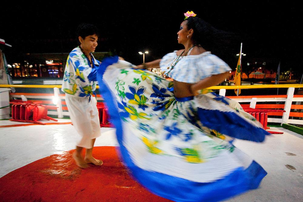 Belem_PA, Brasil..Na foto danca tipica Carimbo na Estacao das Docas em Belem, Para...In the photo typical dance Carimbo at Estacao das Docas in Belem, Para...Foto: JOAO MARCOS ROSA / NITRO