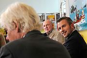 Presentatie Sinterklaasboeken 2014 in de OBA - Openbare Bibliotheek Amsterdam <br /> <br /> Op de foto: Andre Kuipers , Paul van Vliet en Winston Gerschtanowitz