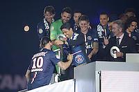 joie PSG / Zlatan Ibrahimovic / Nasser Al Khelaifi / Frederic Thiriez - 23.05.2015 - PSG / Reims - 38eme journee de Ligue 1<br />Photo : Andre Ferreira / Icon Sport