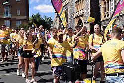 Norwich Pride, 28 July 2018 UK - Aviva insurance workers