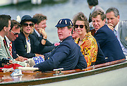 Henley, UNITED KINGDOM. Regatta Chairman, Peter CONI. in the umpires launch. 1988 Henley Royal Regatta, Henley Reach. [Mandatory Credit Peter Spurrier/Intersport Images] 1988 Henley Royal Regatta. UK
