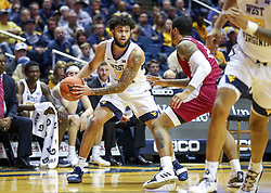 Nov 28, 2018; Morgantown, WV, USA; West Virginia Mountaineers guard Jermaine Haley (10) looks to pass during the second half against the Rider Broncs at WVU Coliseum. Mandatory Credit: Ben Queen-USA TODAY Sports