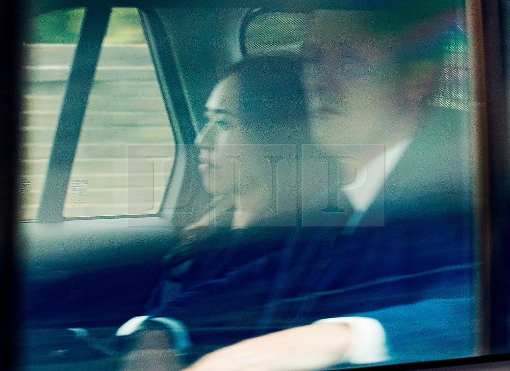 © Licensed to London News Pictures. 18/05/2018. Windsor, UK. Prince Harry's personal secretary Heather Wong arrives at Windsor Castle ahead of tomorrow's wedding.  Photo credit: Peter Macdiarmid/LNP