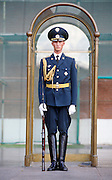 Guard outside the Kremlin, Moscow, Russia