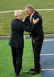 RIO DE JANEIRO, Jan. 26, 2017  Brazil's team coach Tite (R) greets Colombia's team coach Jose Pekerman after their friendly match at the Engenhao Stadium in Rio de Janeiro, Brazil, on Jan. 25, 2017. All the net income of the match will be passed on to the Chapecoense Football Association. (Credit Image: © Li Ming/Xinhua via ZUMA Wire)