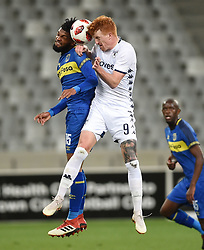 Cape Town-181002- Cape Town City defender Keanu Cupido  challenges Simon Murray  of Bidvest Wits in a PSL clash at Cape Town Stadium.Cape town City come to this game with high confidence after winning the MTN 8 cup over the weekend,while Wits will be fighting for the the top spot they have lost after some poor display in their last two games.Photographs:Phando Jikelo/African News Agency/ANA
