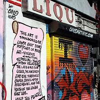 Lower East Side liquor art