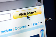 Computer screen showing the website search button and cursor