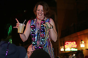 February 28th 2006. New Orleans, Louisiana. United States. .People celebrate Mardi Gras in the French Quarter.