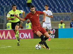 October 25, 2017 - Italy - Maxime Gonalons during the Italian Serie A football match between A.S. Roma and F.C. Crotone at the Olympic Stadium in Rome, on october 25, 2017. (Credit Image: © Silvia Lor/Pacific Press via ZUMA Wire)