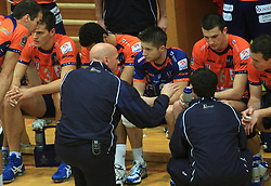 Glenn Hoag and Team ACH at finals of Slovenian volleyball cup between OK ACH Volley and OK Salonit Anhovo Kanal, on December 27, 2008, in Nova Gorica, Slovenia. ACH Volley won 3:2.(Photo by Vid Ponikvar / SportIda).