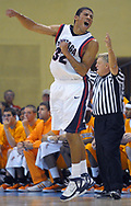 Gonzaga Steven Gray celebrates after scoring a three-pointer late in the first half of an NCAA college basketball game against Tennessee at the Old Spice Classic tournament in Lake Buena Vista, Fla., Sunday, Nov. 30, 2008.