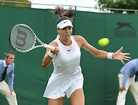 Tennis - 2019 Wimbledon Championships - Week One, Wednesday (Day Three)<br /> <br /> Women's Singles, 2nd Round: Victoria Azarenka (BLR) v Ajia Tomijanovic (AUS)<br /> <br /> Ajia Tomijanovic  on  Court 12<br /> <br /> COLORSPORT/ANDREW COWIE