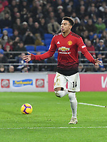 Football - 2018 / 2019 Premier League - Cardiff City vs. Manchester United<br /> <br /> Jesse Lingard of Manchester Utd celebrates scoring  his team's fourth goal from a  penalty , at Cardiff City Stadium.<br /> <br /> COLORSPORT/WINSTON BYNORTH