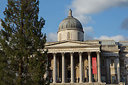 Christmas at The National Gallery on the 11th December 2018 in London in the United Kingdom. The National Gallery is an art museum in the City of Westminster, in Central London. It was Founded in 1824 and houses a collection of over 2,300 paintings dating from the mid-13th century to 1900.