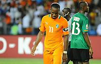 Fotball , 12. februar 2012 finale Afrika-mesterskapet<br /> Zambia - Elfenbenskysten<br /> Didier Drogba  - Zambie Football : Zambie / Cote d Ivoire - Finale - Coupe d Afrique des Nations<br /> <br /> Norway only