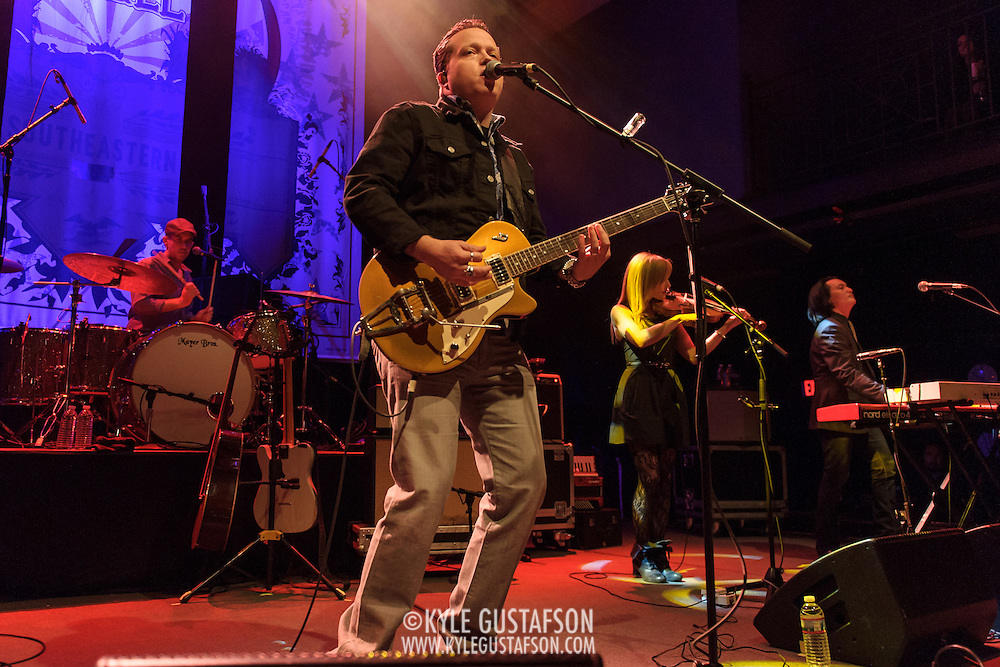 WASHINGTON, D.C. - January 28th, 2014 - Jason Isbell (second from left) performs at the 9:30 Club in Washington, D.C. A former member of  the Drive-By Truckers, Isbell released his fourth solo album, Southeastern, last year. (Photo by Kyle Gustafson / For The Washington Post)