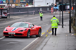 © Licensed to London News Pictures. 12/12/2016. London, UK. The scene were six people  have been rushed to hospital after a car ploughed in to a group of pedestrians in Battersea, South London. Photo credit: Ben Cawthra/LNP