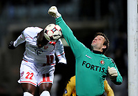 Fotball<br /> Frankrike<br /> Foto: DPPI/Digitalsport<br /> NORWAY ONLY<br /> <br /> FOOTBALL - UEFA CUP 2008/2009 - GROUP STAGE - GROUP H - 081023 - AS NANCY LORRAINE v FEYENOORD ROTTERDAM - MARC ANTOINE FORTUNE (NAN) / HENK TIMMER (FE)