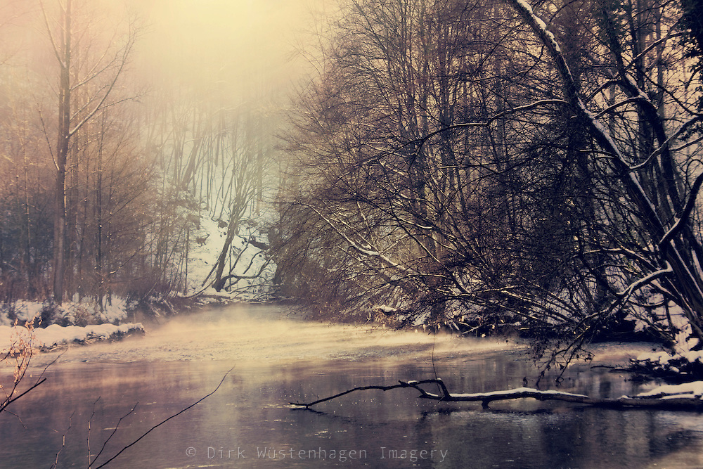 Winter sun on the misty waters of river Wupper. Textured photo.<br /> <br /> Prints & more:<br /> http://society6.com/DirkWuestenhagenImagery/winter-on-the-river_Print<br /> <br /> Liense this through Getty Images:<br /> http://www.gettyimages.com/detail/photo/lost-in-lights-royalty-free-image/110682530?esource=en-us_flickr_photo&language=en-US