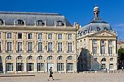 Place de la Bourse, Bordeaux, France. Former Royal Palace dedicated to King Louis XV (15th) .