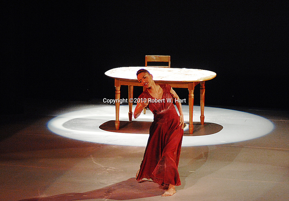 """Dallas Black Dance Theater dancer, Nycole Ray, performs """"At the Edge of My Life . . . So Far"""", choreographed by Bruce Wood, Wednesday evening, December 8, 2010 at the Dee and Charles Wyly Theater in Dallas, Texas"""