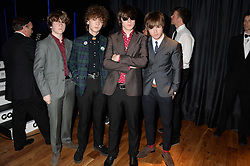 Josh McClorey, Ross Farrelly, Pete O'Hanlon, Evan Walsh of The Strypes at the GQ Men of The Year Awards 2013 in association with Hugo Boss held at the Royal Opera House, London on 3rd September 2013.