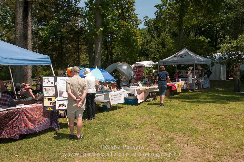 Cultural Partner booths at the American Roots Music Festival at Caramoor in Katonah New York.photo by Gabe Palacio